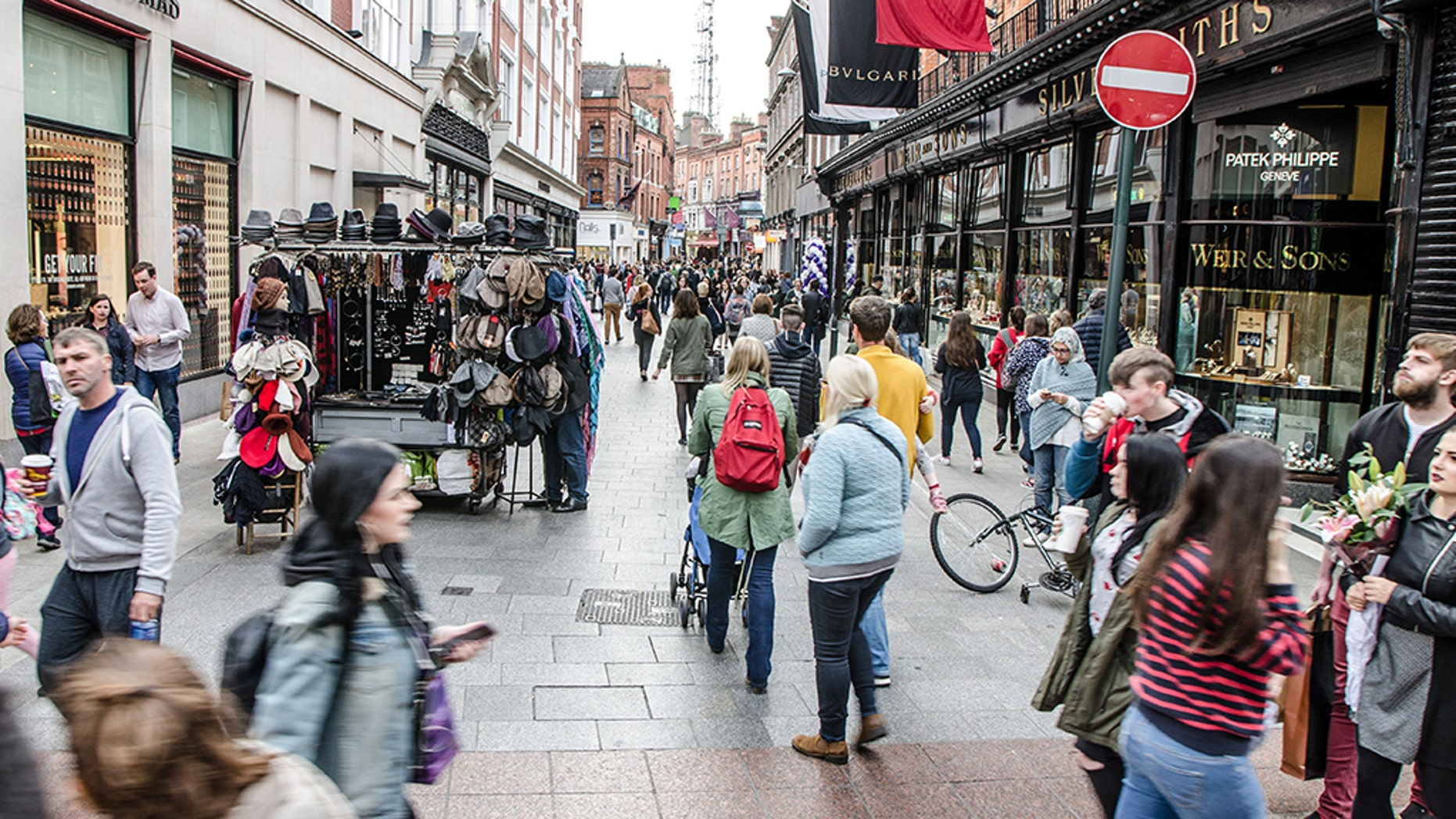 """A crowd on Grafton Street in Dublin;There are 1,367 families in homeless accommodation in Dublin and this figure is increasing year on year.<br data-cke-eol=""""1"""">"""