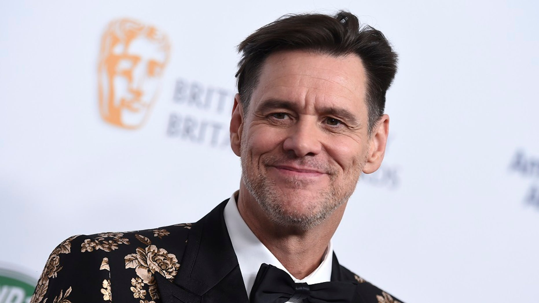 Jim Carrey arrives at the 2018 BAFTA Los Angeles Britannia Awards at the Beverly Hilton on Friday.