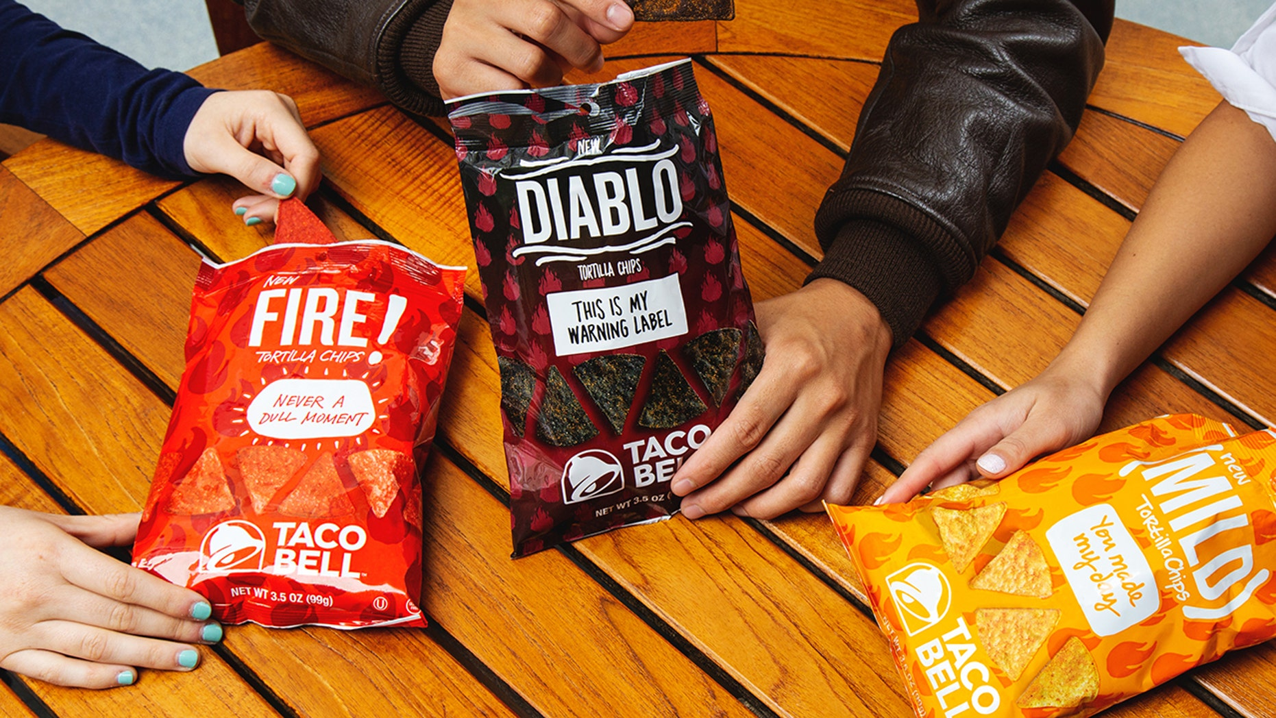 Taco Bell's latest tortilla chip flavor, Diablo, is joining its less fiery cousins, Mild and Fire, at 7-Eleven locations.