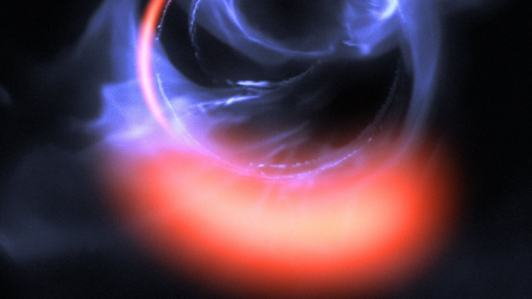 Found lurking at the heart of galaxy, a monster black hole