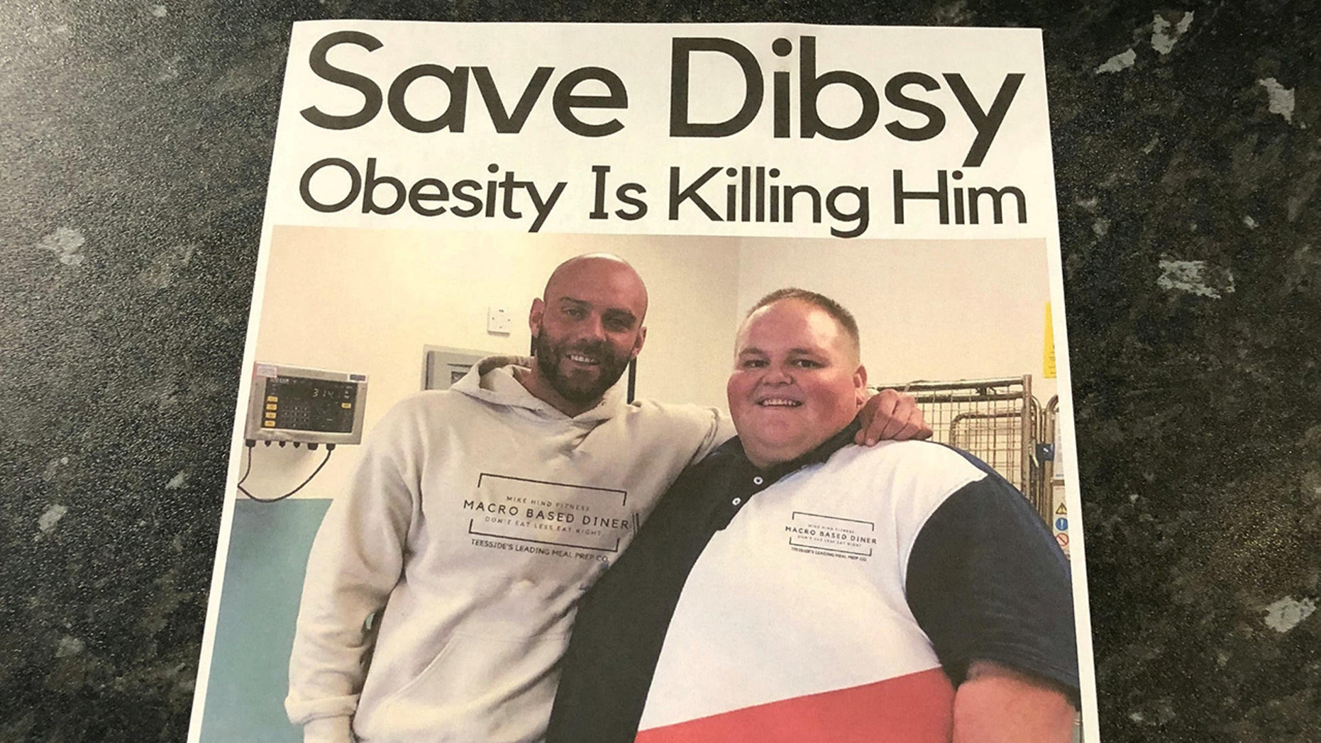 Darren McClintock, also known as Dibsy, went around with his trainer handing out flyers.