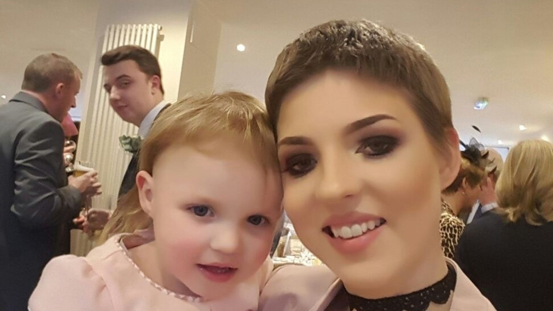 Gemma, pictured with her daughter, discovered she had ovarian cancer while 16 weeks pregnant.
