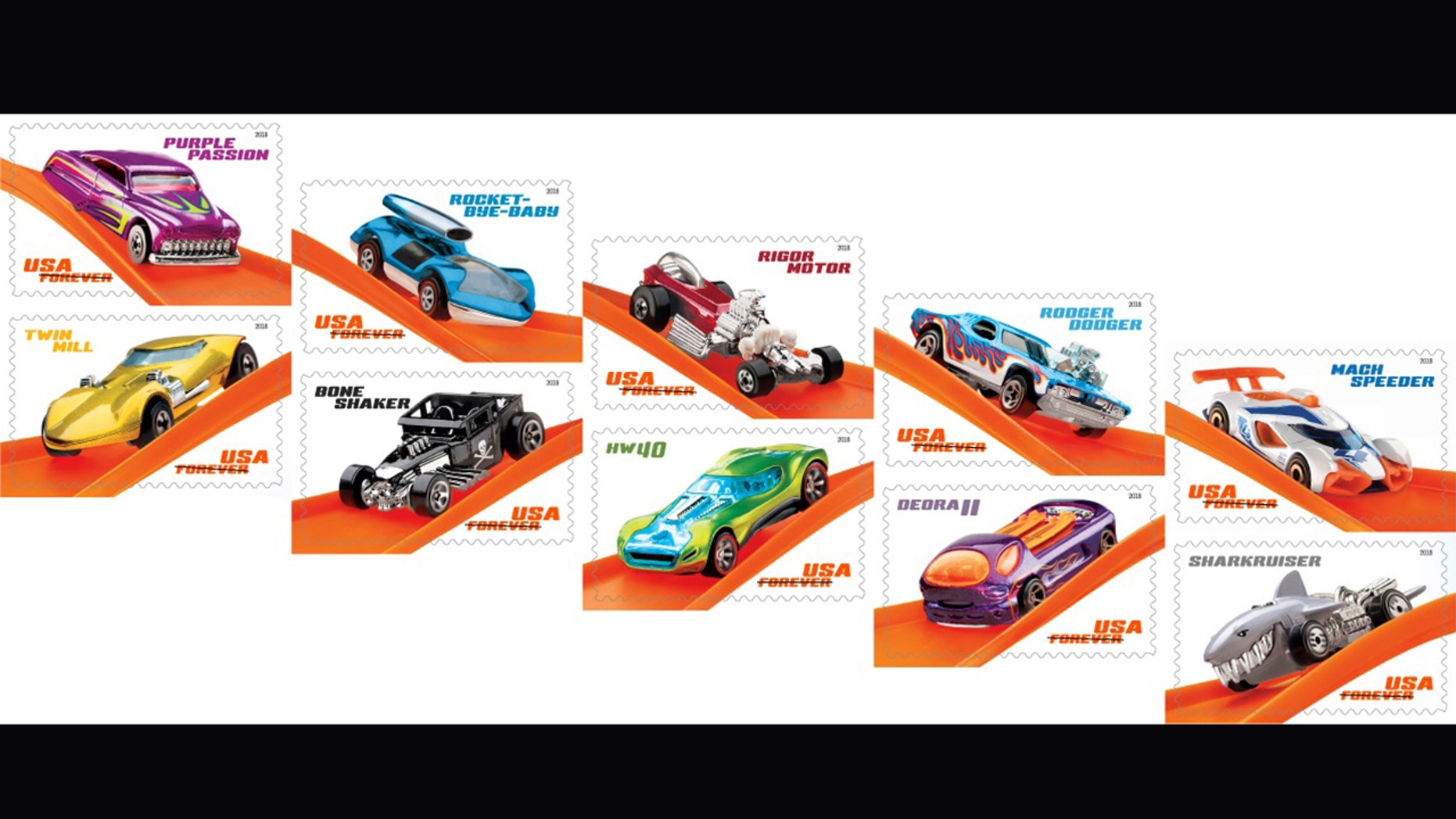 U S Postal Service Launches Hot Wheels 50th Anniversary Stamps