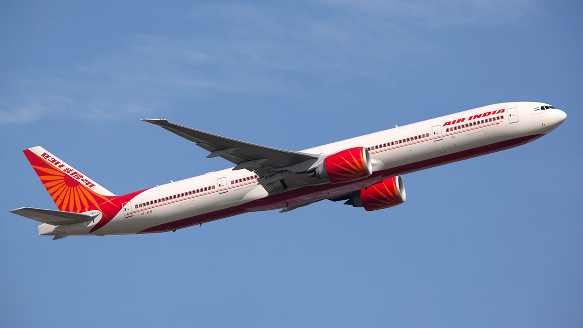 An Air India plane suffered damage after smashing into a wall during takeoff.