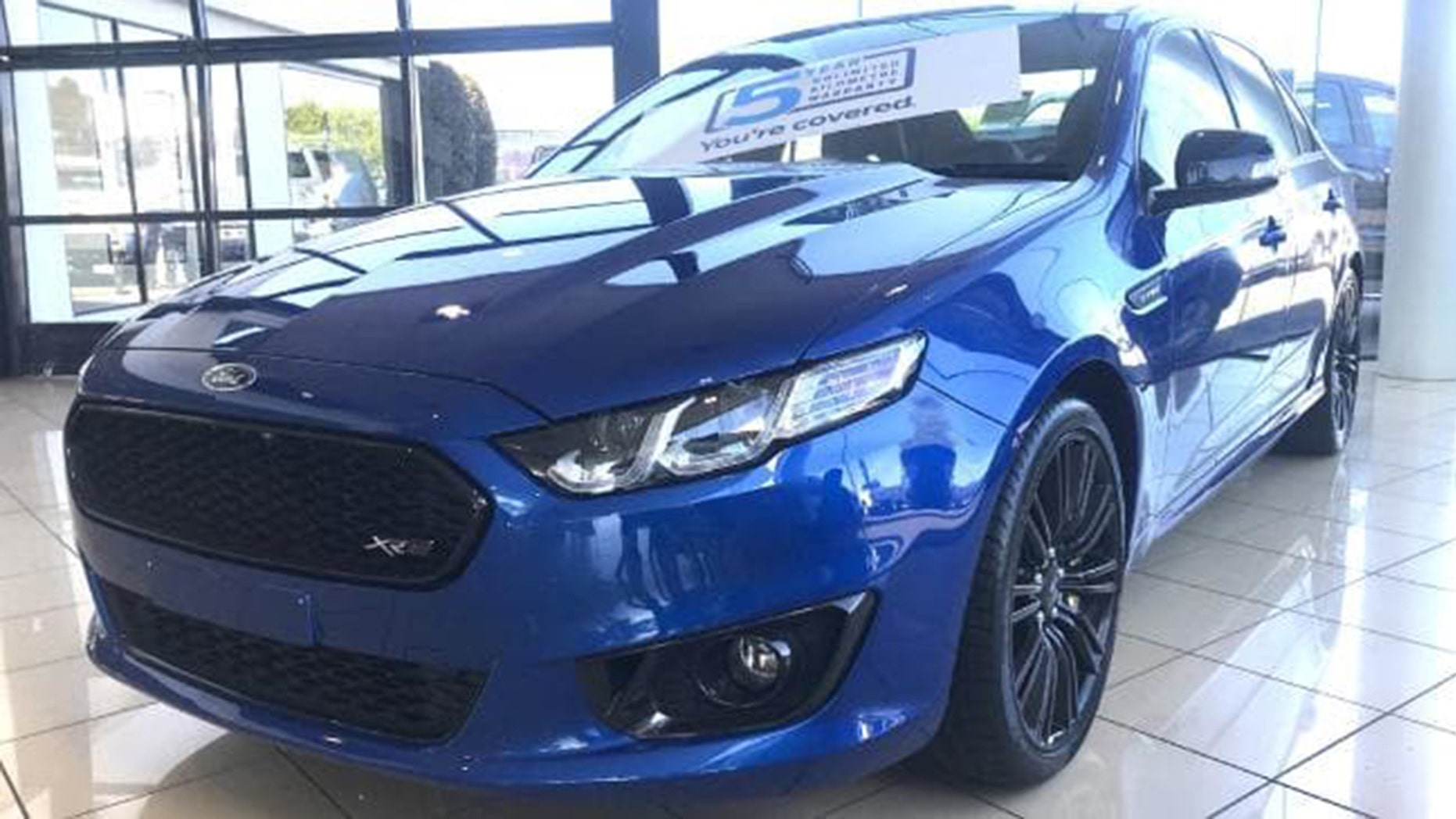 Last new ford falcon found in dealers garage