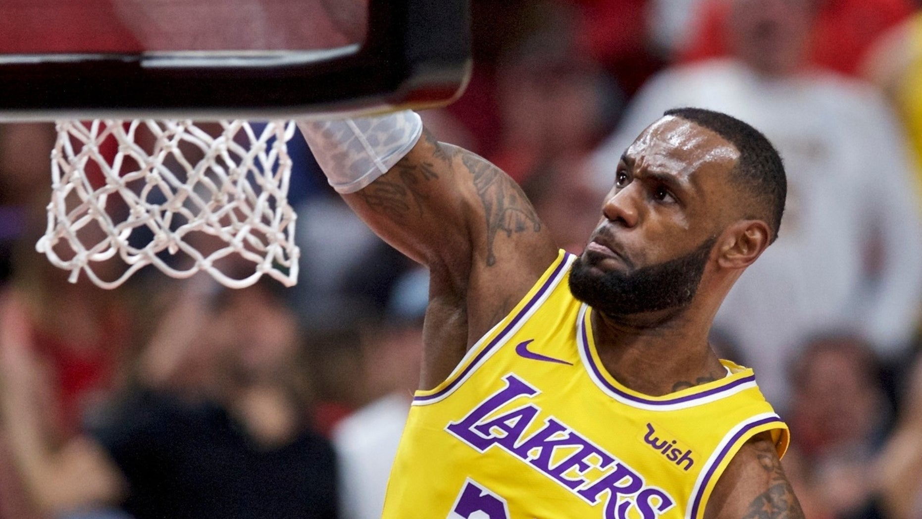 LeBron James made his debut on the Los Angeles Lakers on Thursday, Oct. 19, 2018.