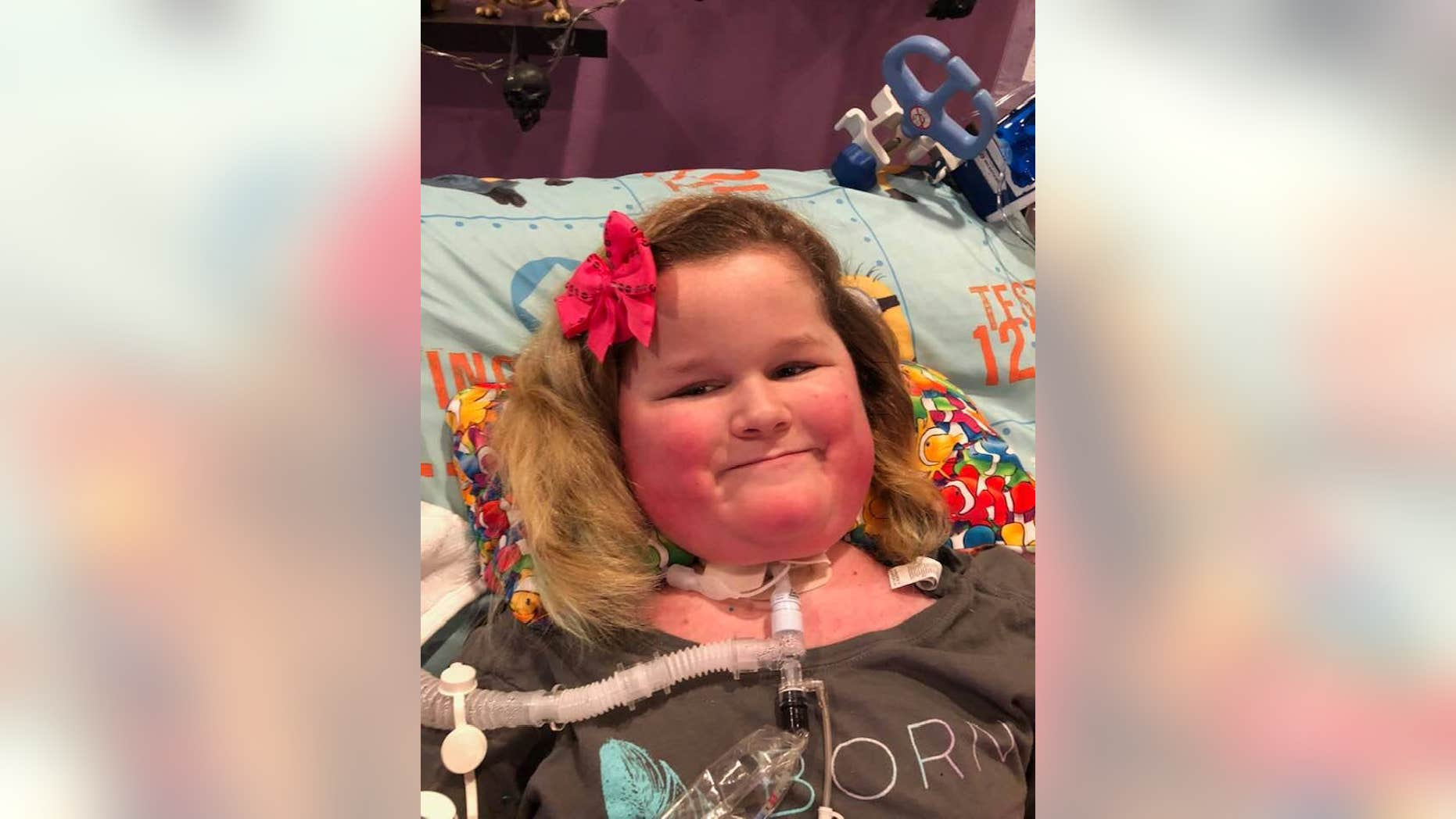Angie Andersen says her daughter McKenzie, pictured, was diagnosed with acute flaccid myelitis (AFM) in 2014.