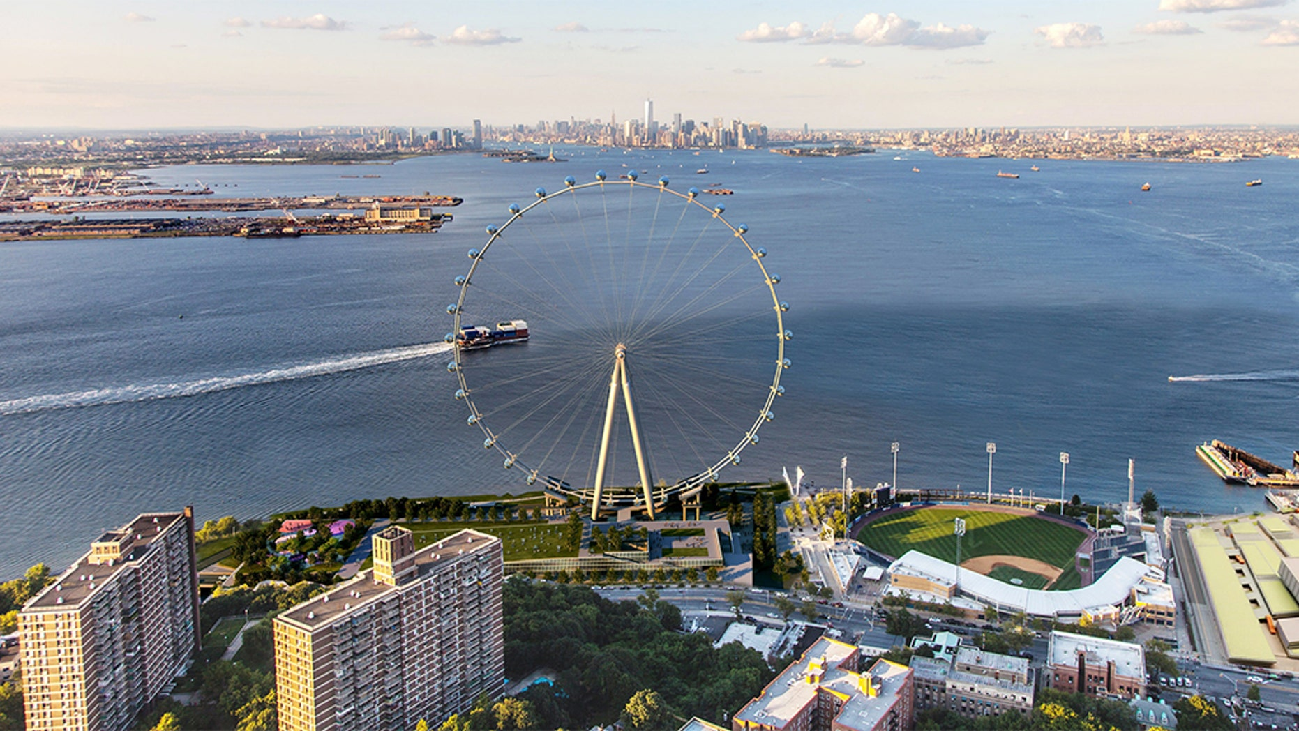 A concept image for the Ferris wheel.