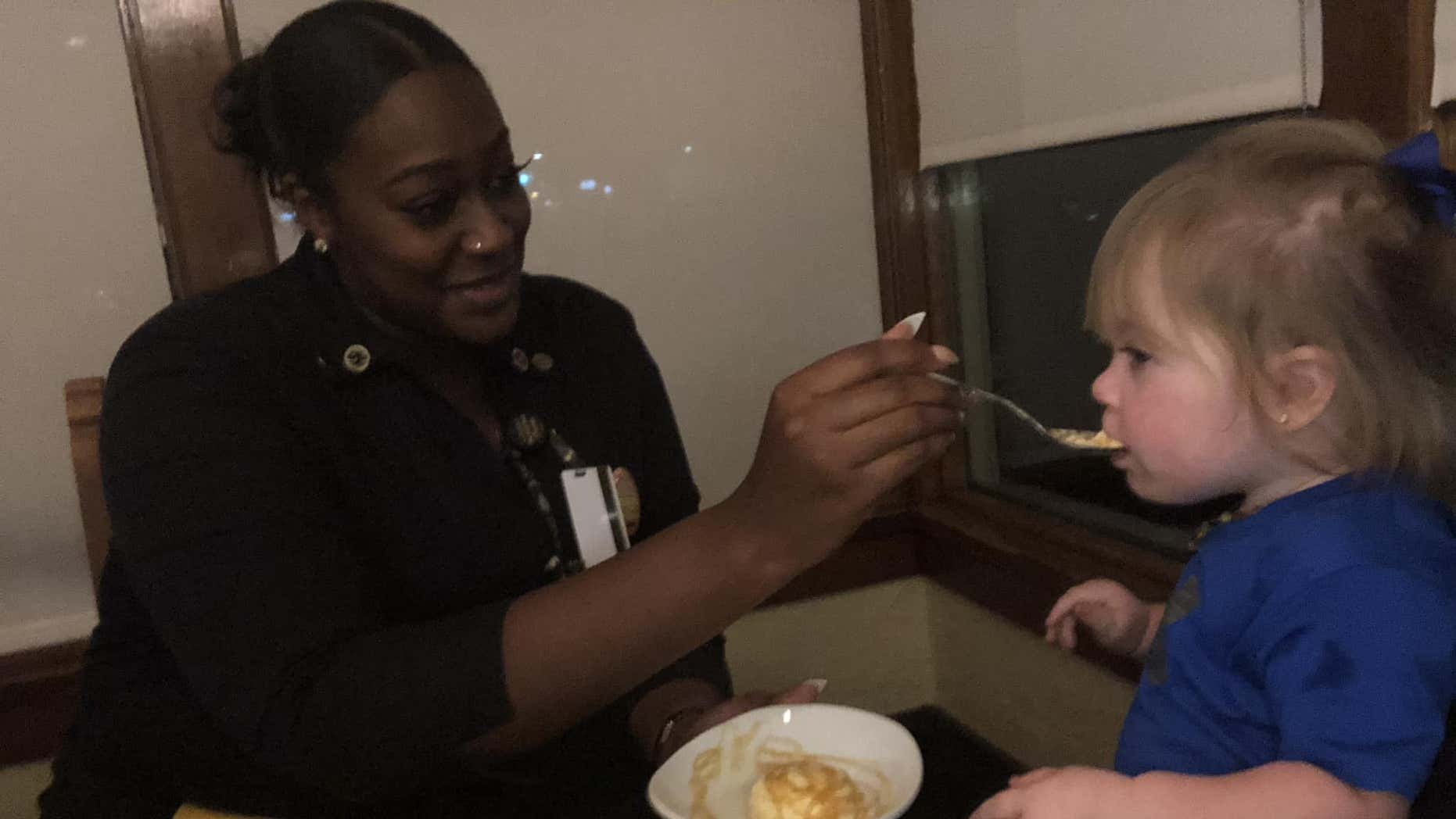North Carolina mom Courtney Pedigo thanked the waitress for her kind act on Facebook.