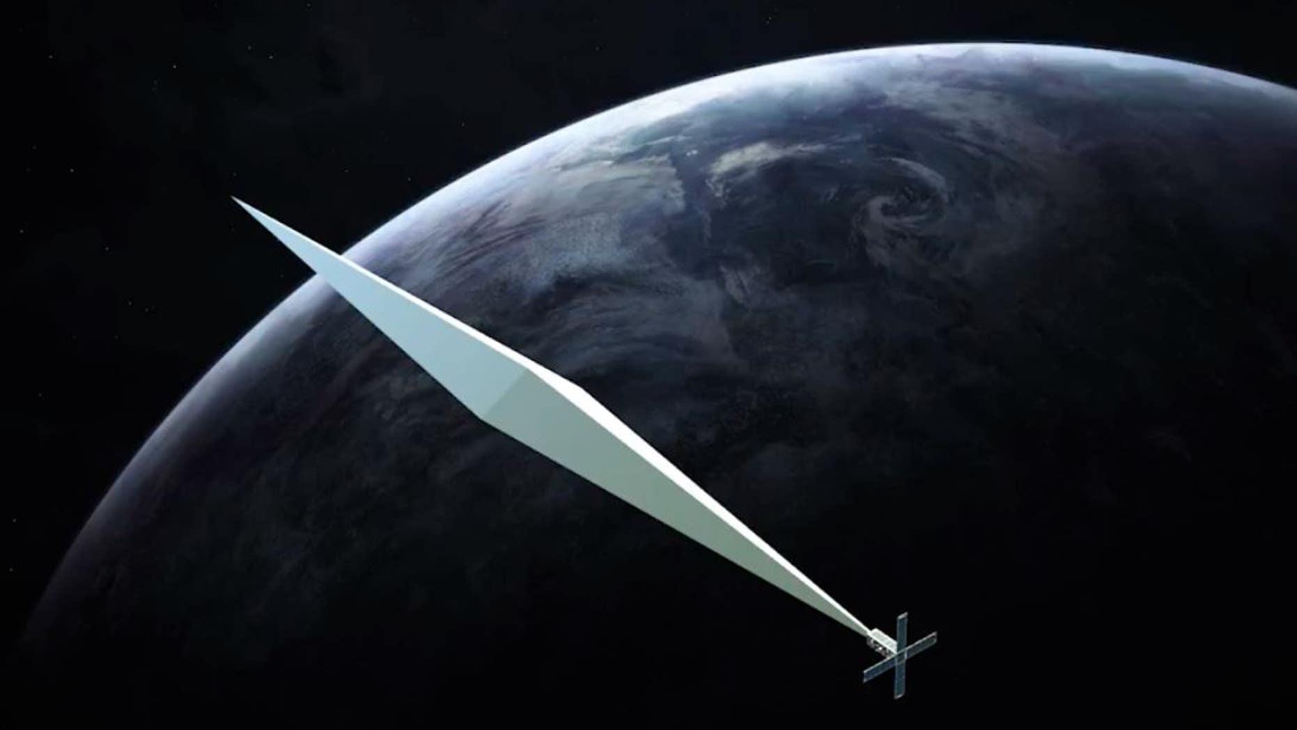 Trevor Paglen,<em>Orbital Reflector</em>, rendering.