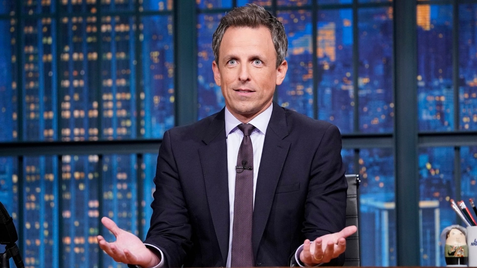 Seth Meyers mocked MSNBC for spending time analyzing where Beto O'Rourke rented a minivan.