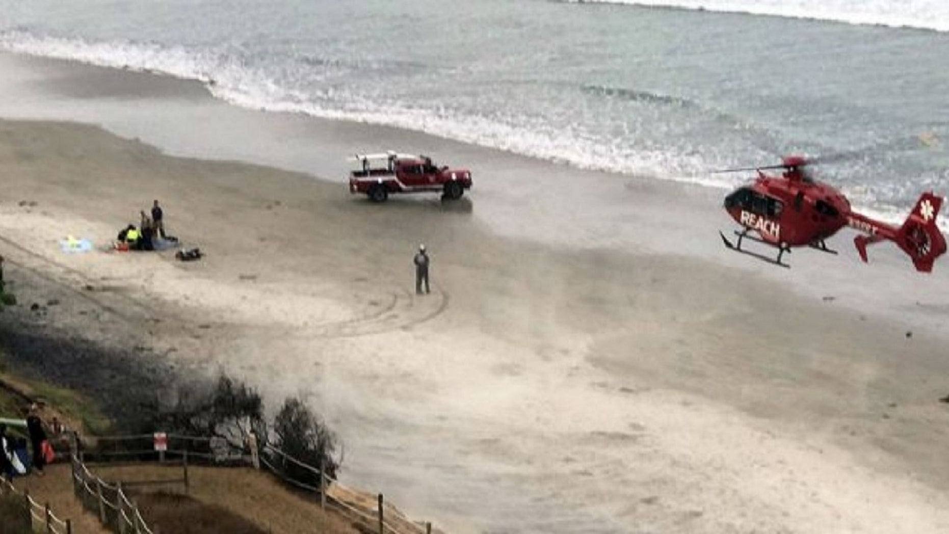 A teenage boy was attacked at sea by a shark in Encinitas, Calif. on Sept. 29.