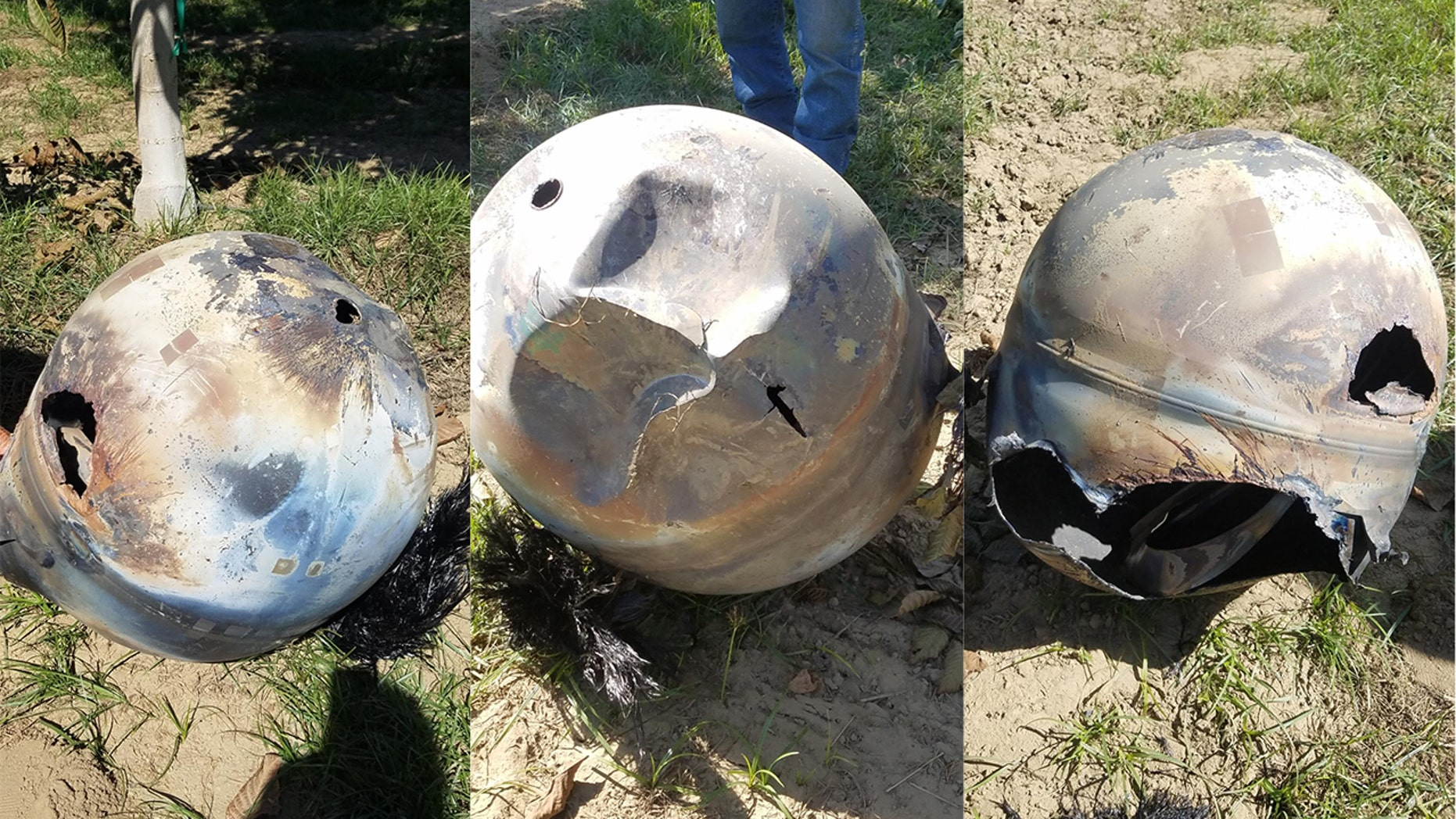 A piece of space junk landed on October 13, 2018 on a farm near Hanford, California.
