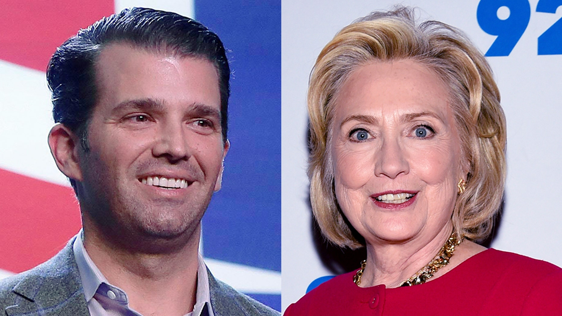Donald Trump Jr. and former Secretary of State Hillary Clinton