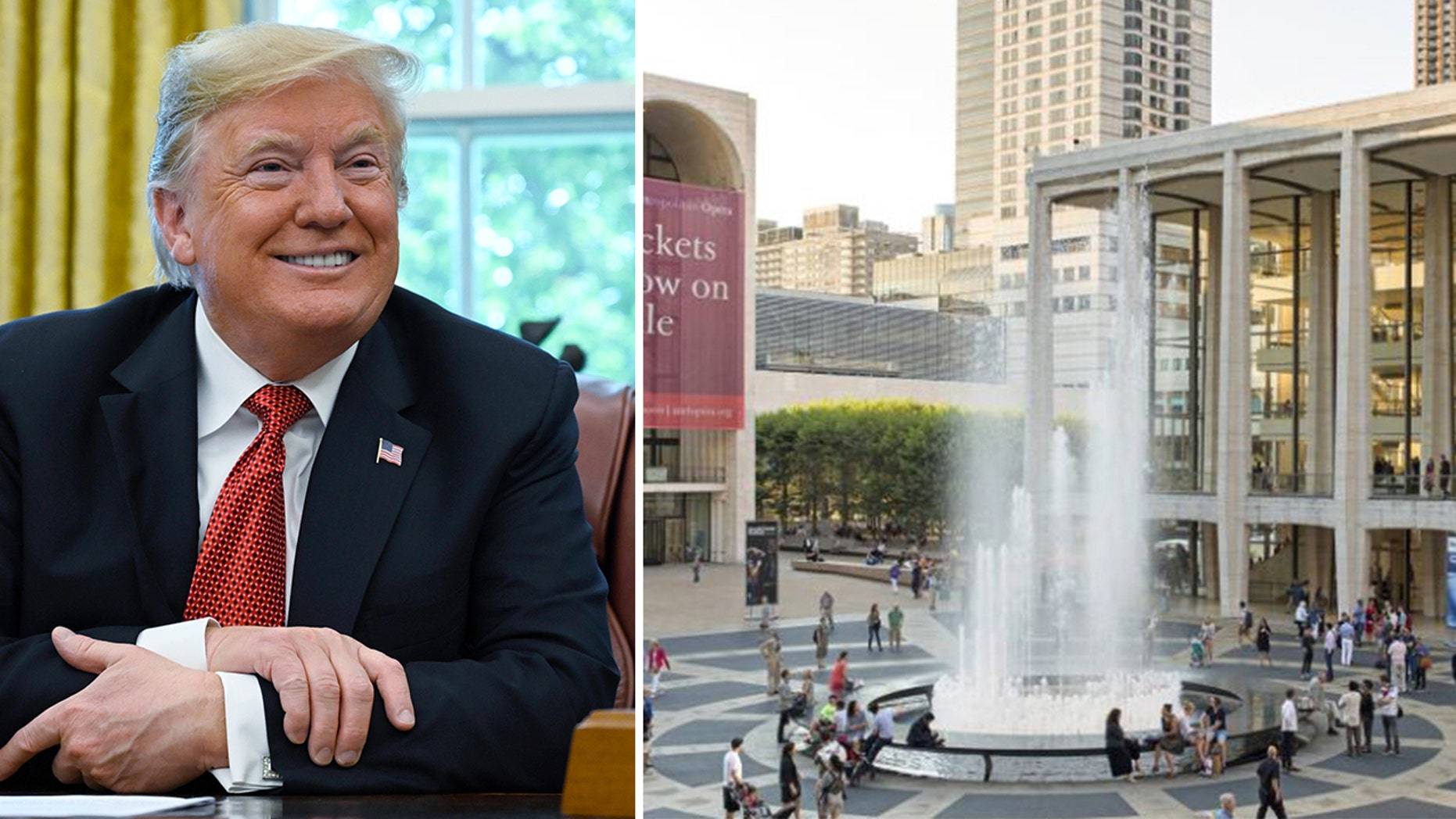 President DonaldTrumpand Lincoln Center.
