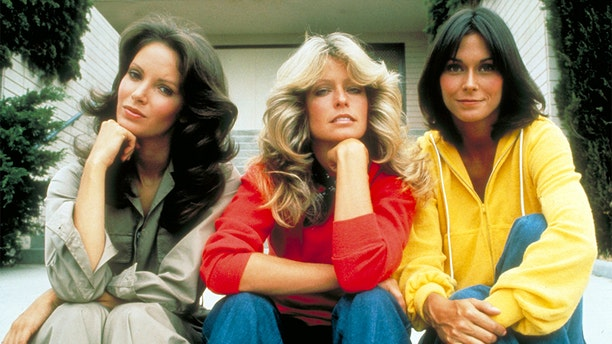 """""""Charlie's Angels"""" stars Jaclyn Smith, Farrah Fawcett and Kate Jackson pictured in 1976."""