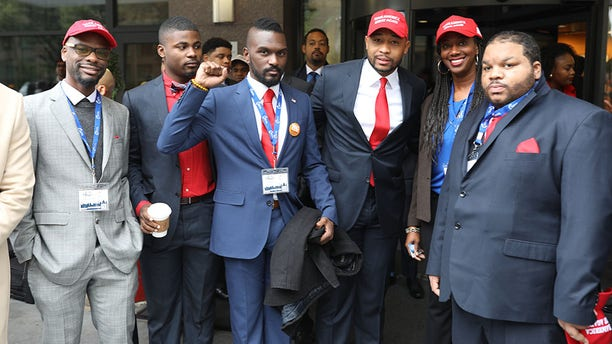 "Brandon Tatum (third from right) is Director of Urban Engagement at Turning Point USA, and he told Fox News that the YBLS is symbolic for black voters. ""YBLS is important because it gives an example to this country that black voters are not monoliths and think for ourselves,"" said Tatum."