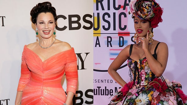 """The Nanny"" star Fran Drescher (left) and rapper Cardi B (right)."