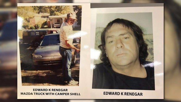 Edward Keith Renegar drove a red 1984 B2200 Mazda Pickup with a white camper shell, according to police. He also drove a mustard yellow, long-wheel base Ford pickup, a small gray car, and a Ford LTD.