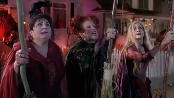 Kathy Nahimy, Bette Midler and Sarah Jessica Parker in the 1993 Disney production, 'Hocus Pocus.'