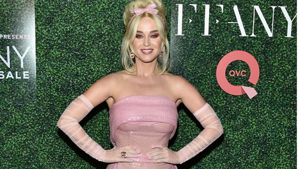 """NEW YORK, NY - OCTOBER 11: Katy Perry attends the 25th Annual QVC """"FFANY Shoes on Sale"""" Gala at The Ziegfeld Ballroom on October 11, 2018 in New York City. (Photo by Eugene Gologursky/Getty Images for QVC)"""