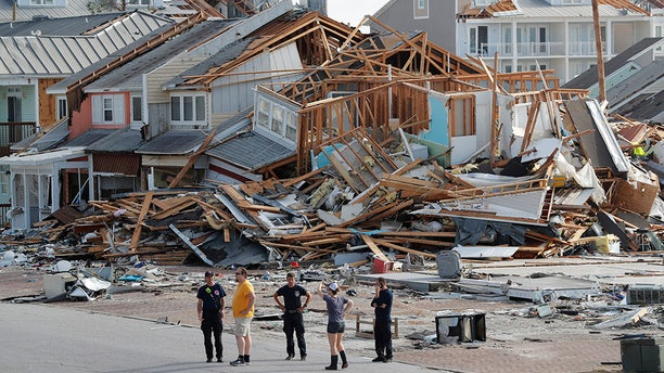 Rescue crews perform a search in the aftermath of Hurricane Michael in Mexico Beach, Fla., Thursday.