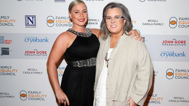 Elizabeth Rooney and Rosie O'Donnell attend Family Equality Council's 'Night At The Pier' at Pier 60 on May 7, 2018, in New York City. (Getty Images)