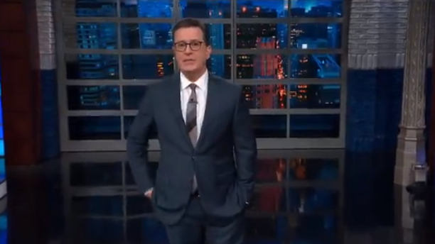 """'Late Show' host Stephen Colbert discussed the Democrats taking the House on Tuesday, stating the party can now """"open investigations"""" into President Trump."""