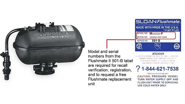 Flushmate is asking consumers to check the model and serial number of their Flushmate units to see if theiris one of the recalled models.