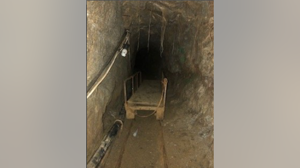 The tunnel included a rail system.