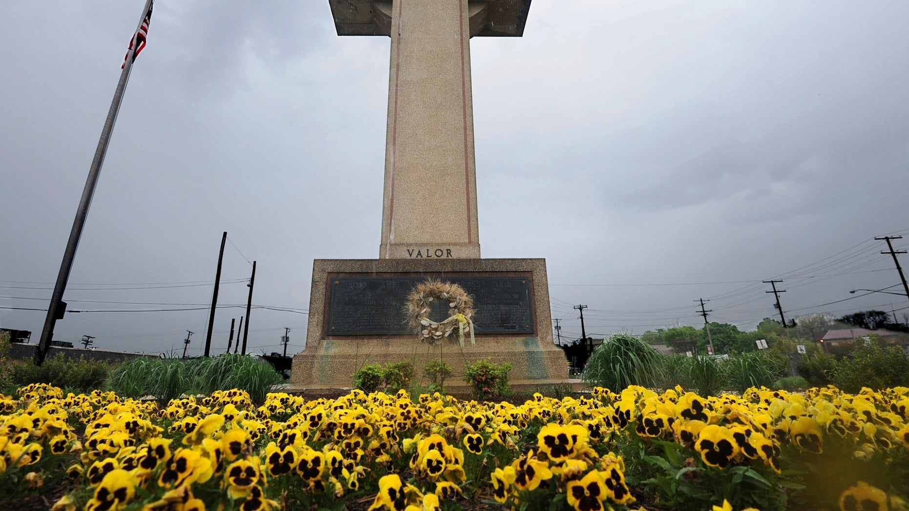 FILE -- The World War I memorial cross is pictured in Bladensburg, Md.