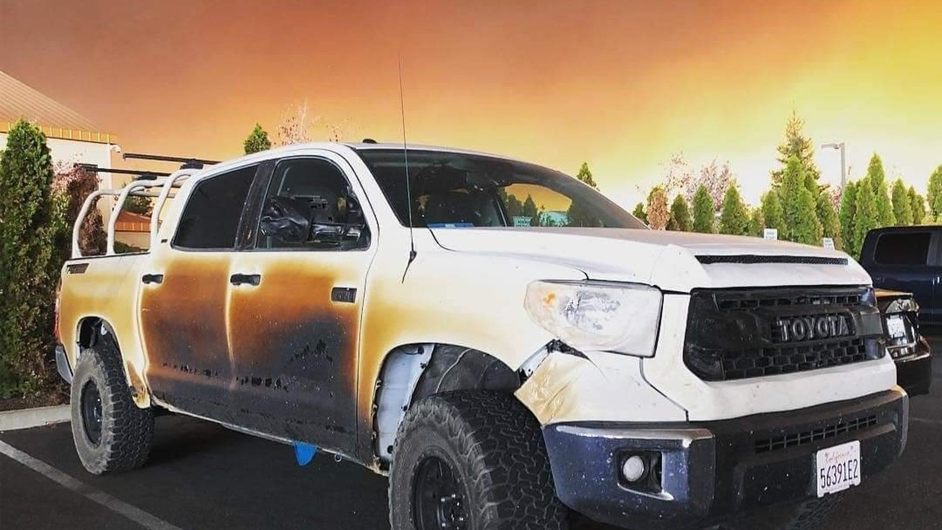 A California nurse credited his Toyota Tundra to saving his life.
