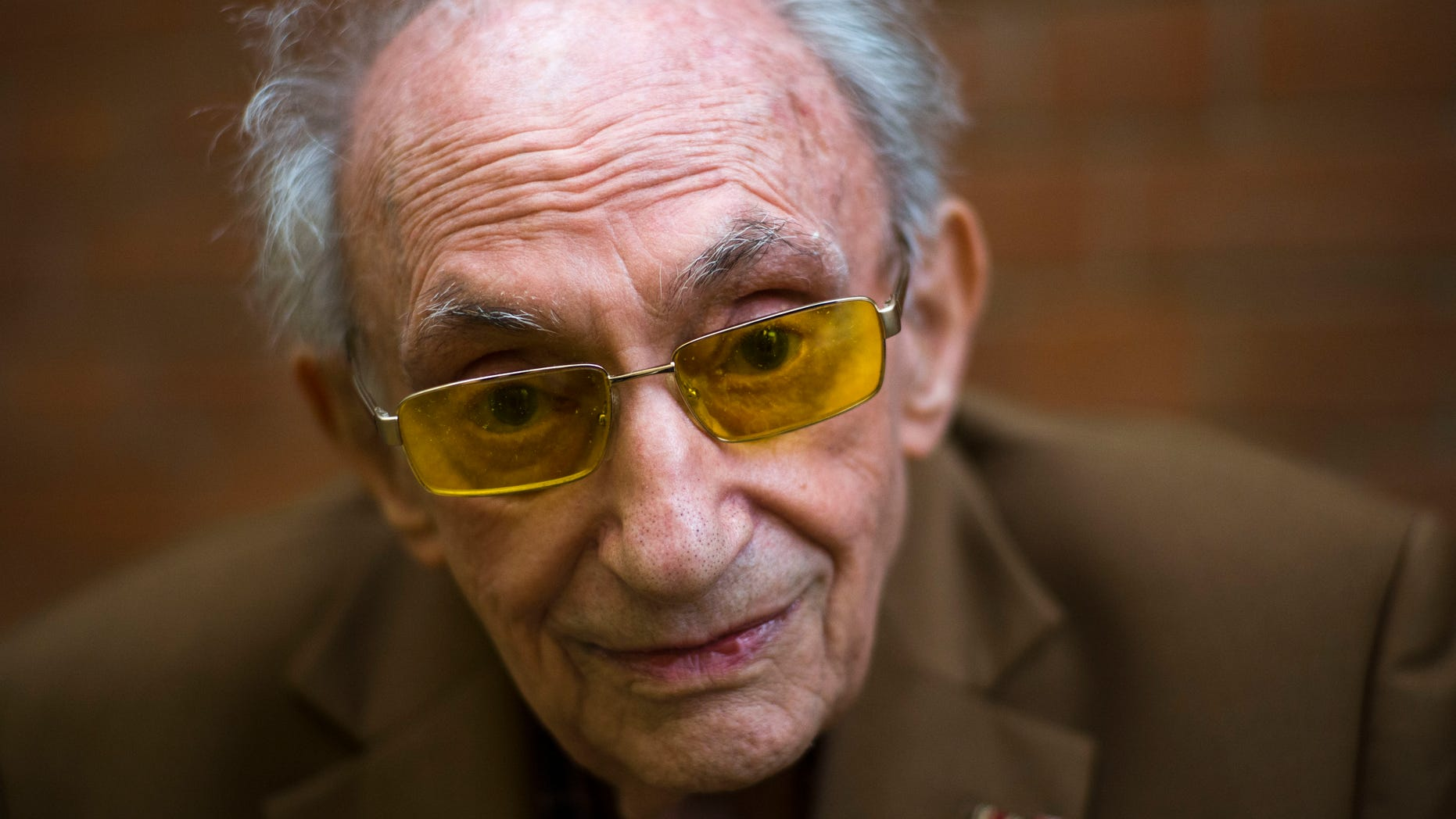 Walter Frankenstein born in 1924, a witness of the Nov. 9, 1938 terror against Jews in Berlin and one of the few survivors of Auerbach'sches Waisenhaus orphanage. (AP Photo/Markus Schreiber)