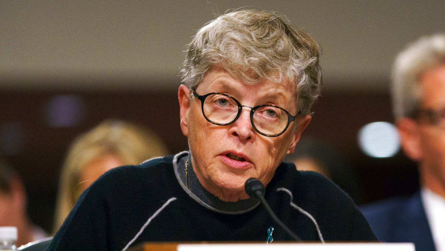Lou Anna Simon was charged Tuesday with lying to police in connectiong to the Larry Nassar sexual abuse scandal.