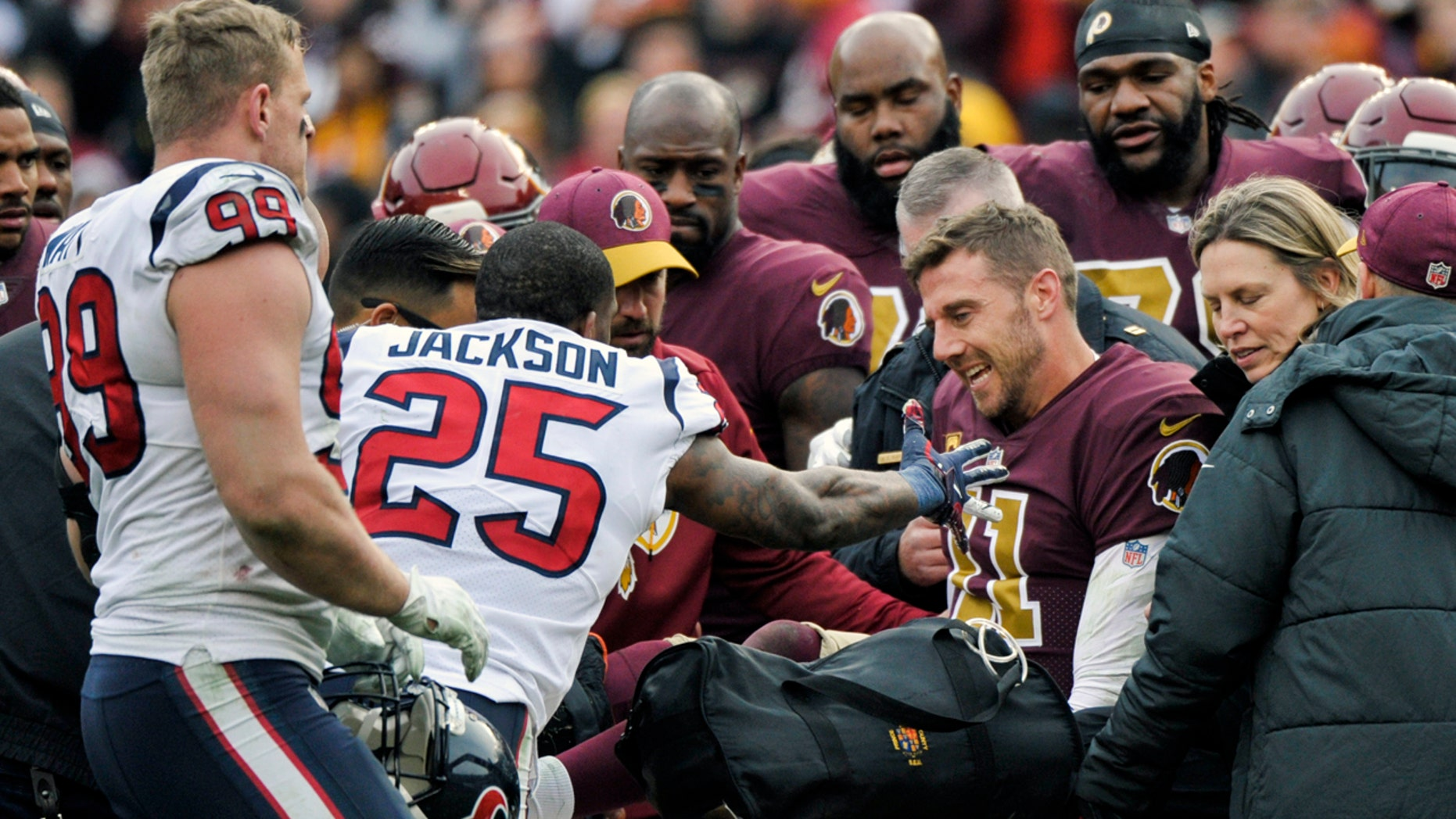 Redskins QB Alex Smith suffers severe ankle injury against Texans
