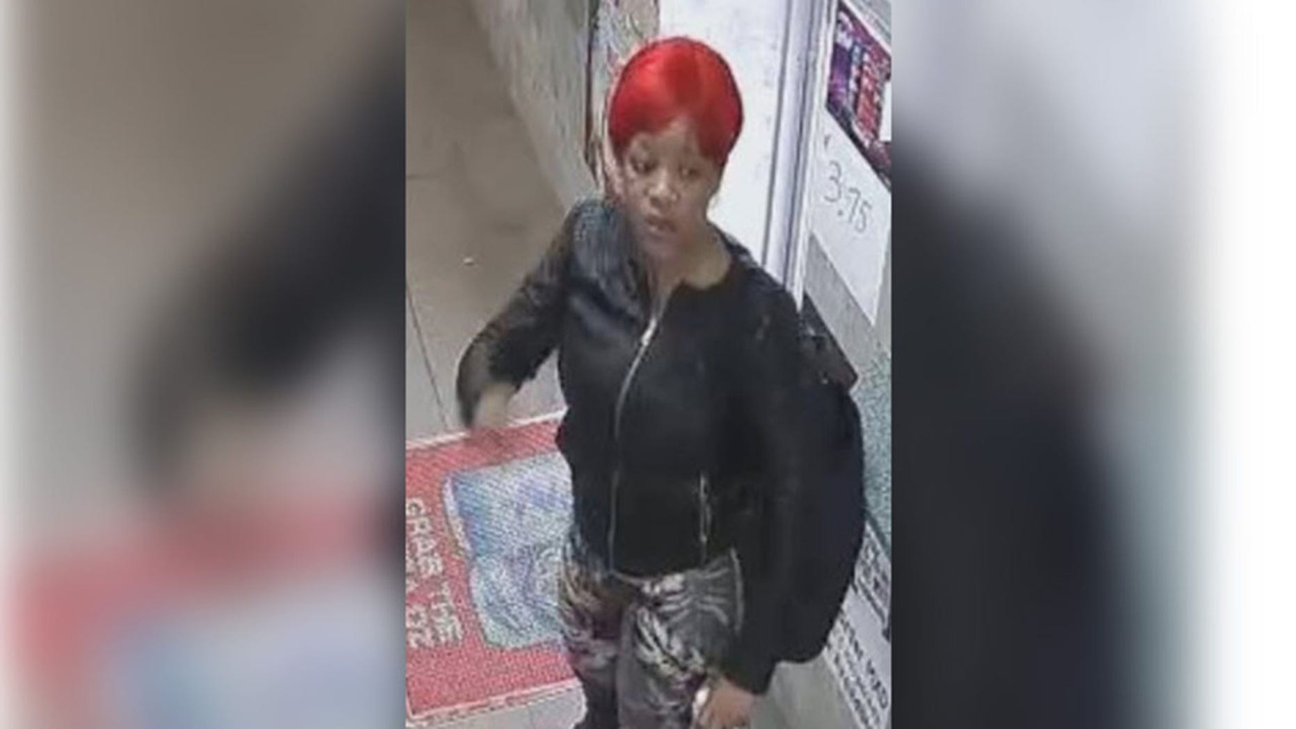 An unidentified woman sporting flame red hair allegedly used a hairspray can as a torch after she was denied a free beer at a Philadelphia deli.