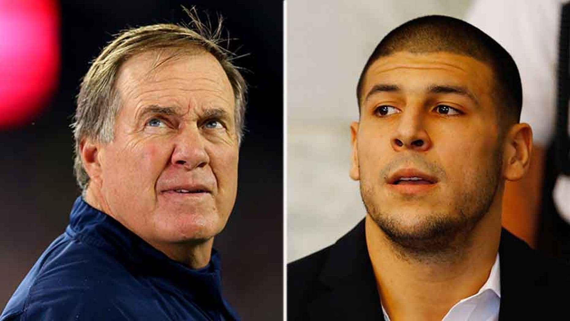 Aaron Hernandez, right, slammed Bill Belichick while he was in jail on a murder charge.