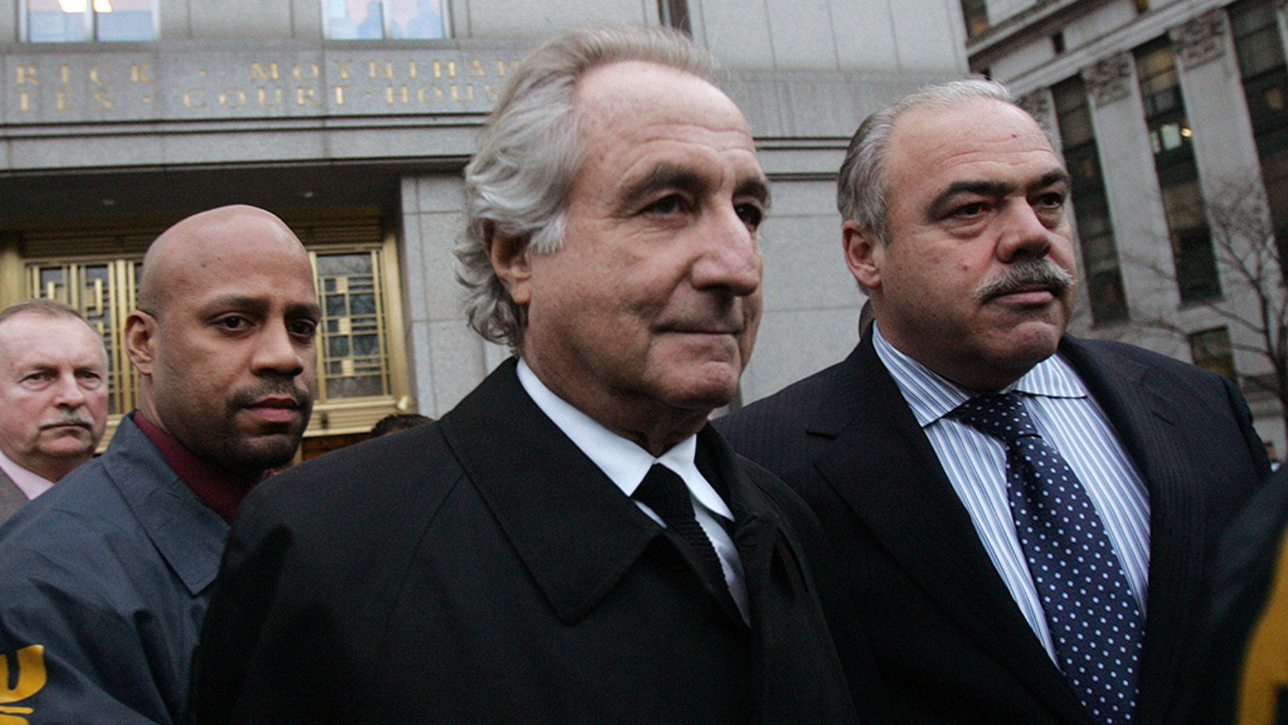 The Department of Justice on Thursday revealed that the Madoff Victim Fund (MVF) kicked off its third installment of issuing money, totaling to roughly $695 million, to people affected by the Bernie Madoff fraud scheme. Madoff (center) is seen walking out from Federal Court after a bail hearing in Manhattan in January 2009.