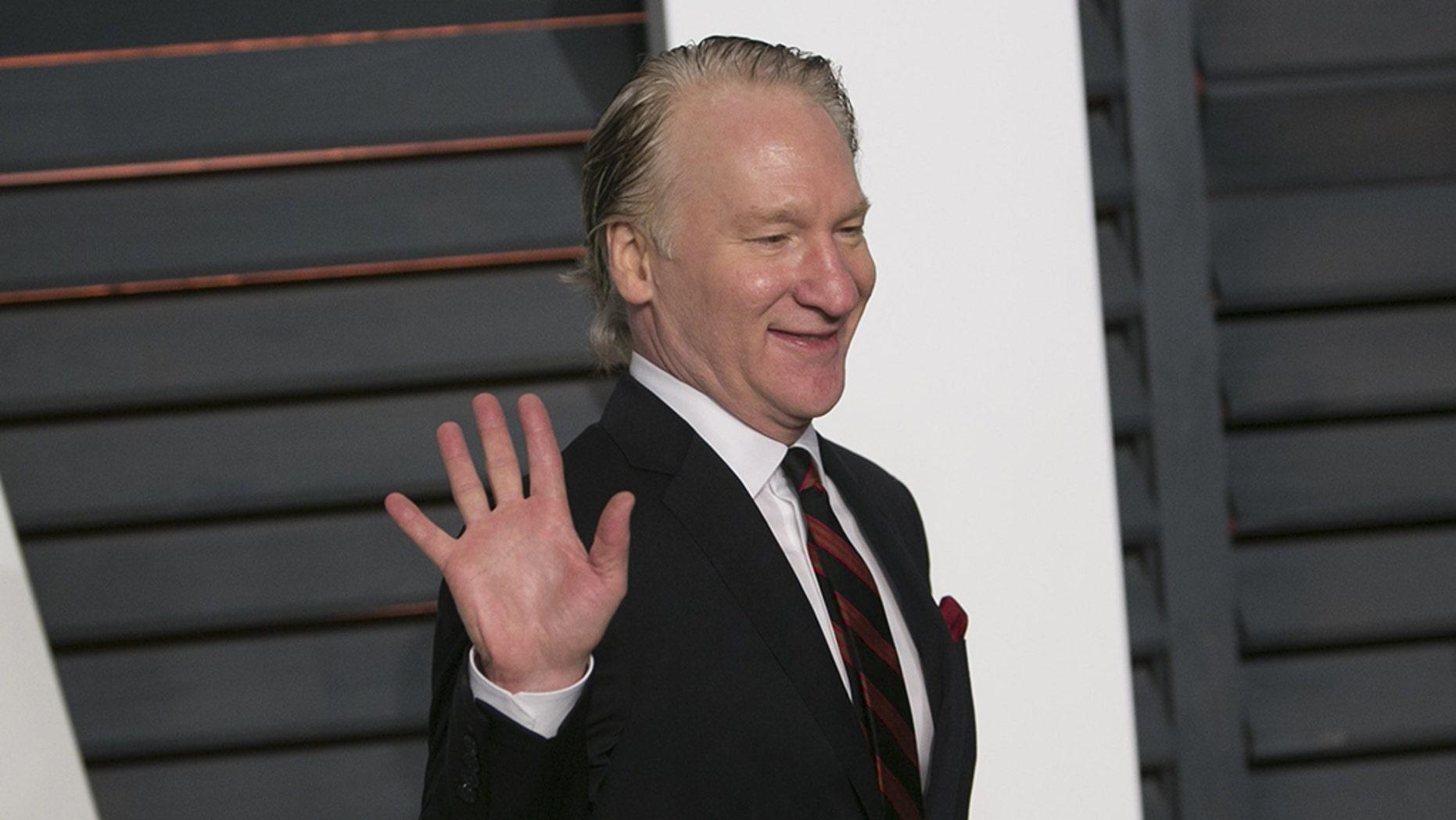 Bill Maher arrives atthe 2015 Vanity Fair Oscar Party in Beverly Hills, California. (ADRIAN SANCHEZ-GONZALEZ/AFP/Getty Images)