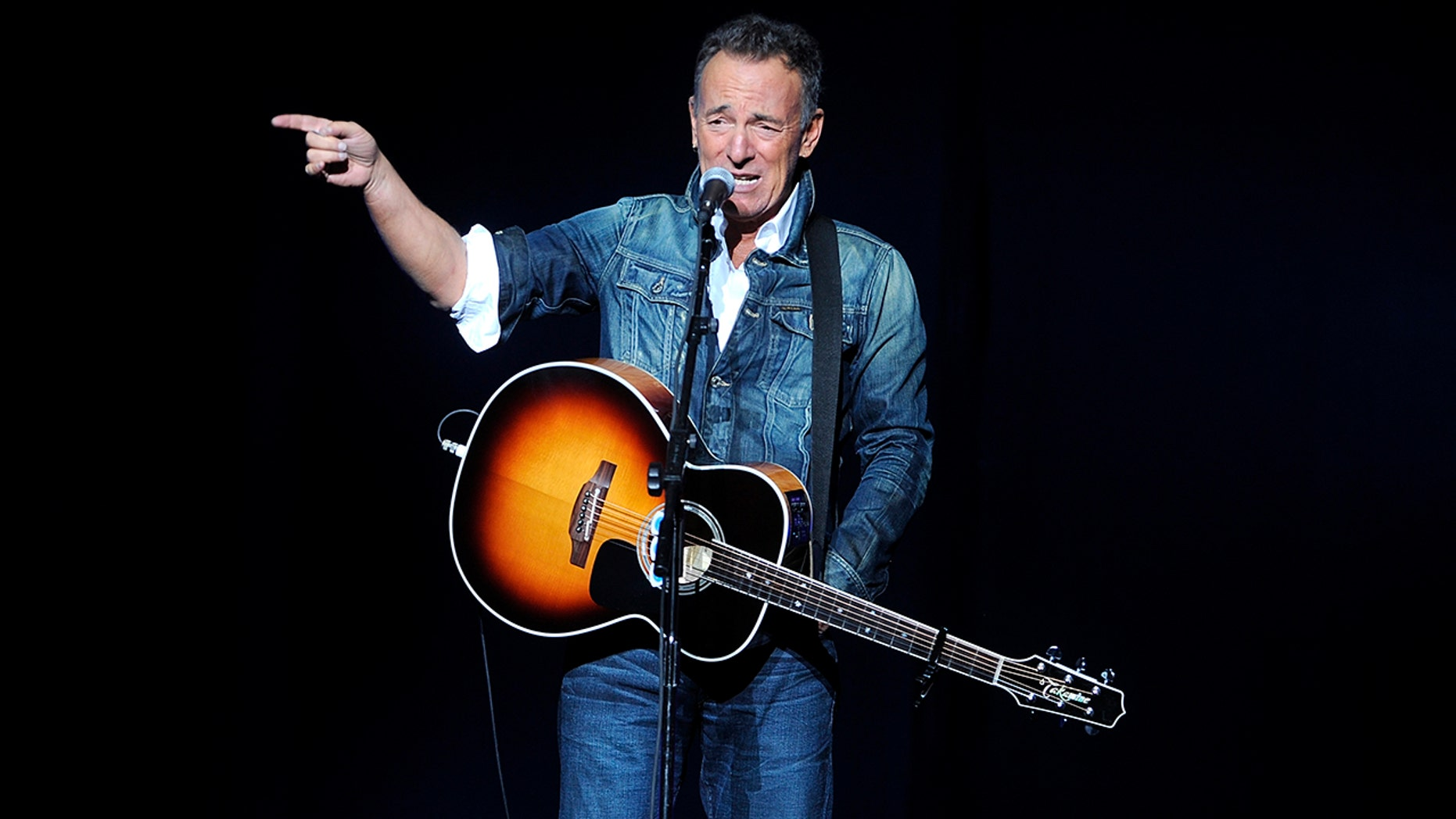 Bruce Springsteen performs at the 12th annual Stand Up For Heroes benefit concert at the Hulu Theater at Madison Square Garden on Monday, Nov. 5, 2018, in New York.