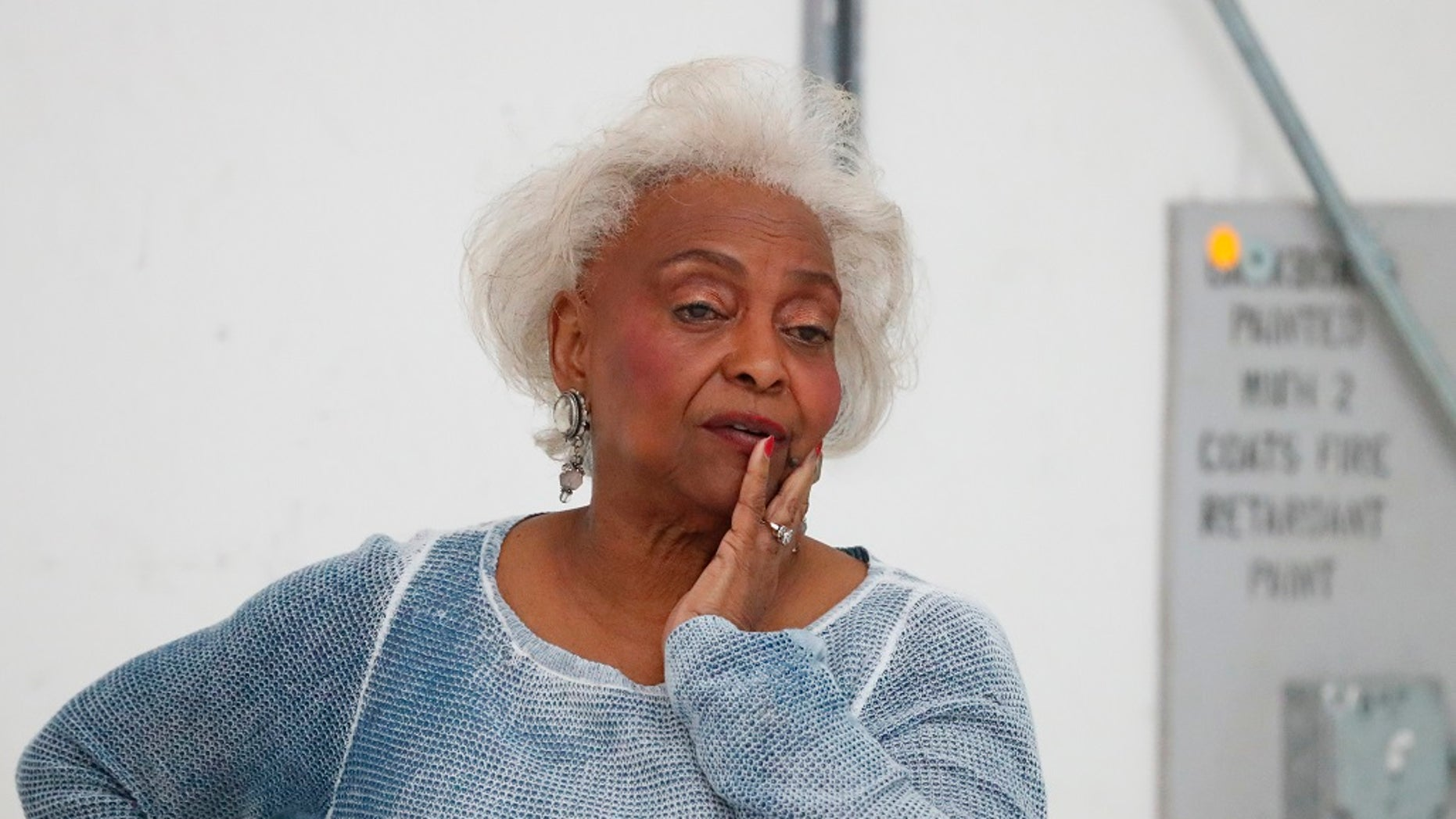 Broward County Supervisor of Elections Brenda Snipes watches workers do a hand recount at the Broward County Supervisor of Elections office.