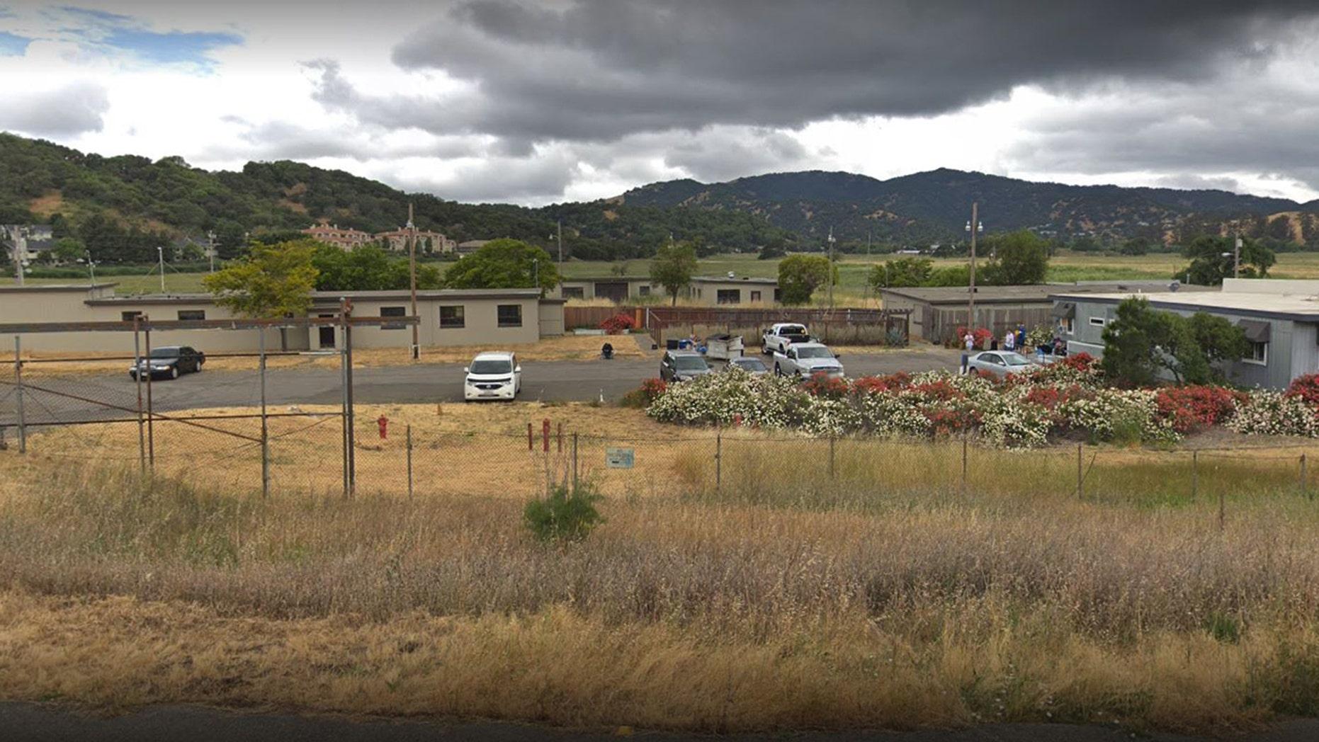 Outside the Helen Vine Detox Center in San Rafael, Calif., where a shooting left one dead.