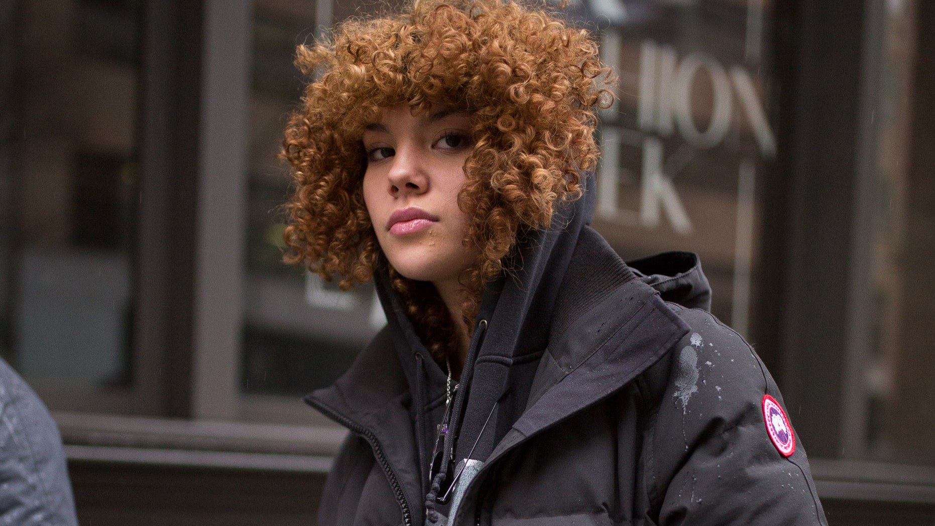 """The school has banned jackets from brands including Moncler, Pyrenex and Canada Goose (like the one seen above) in order to """"poverty-proof"""" the school."""