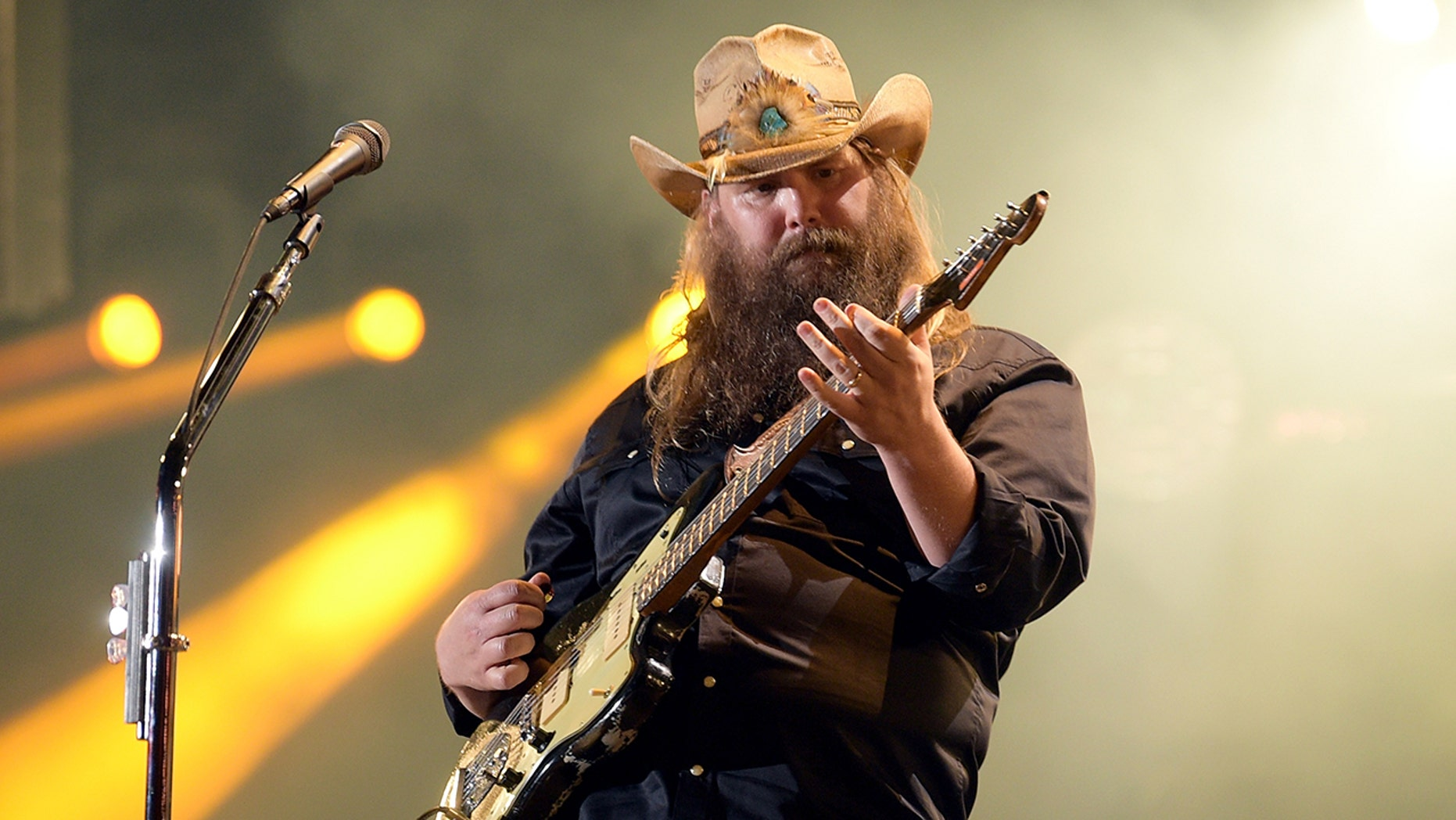 Chris Stapleton performs onstage during the 2018 CMA Music festival at Nissan Stadium on June 9, 2018 in Nashville, Tennessee.