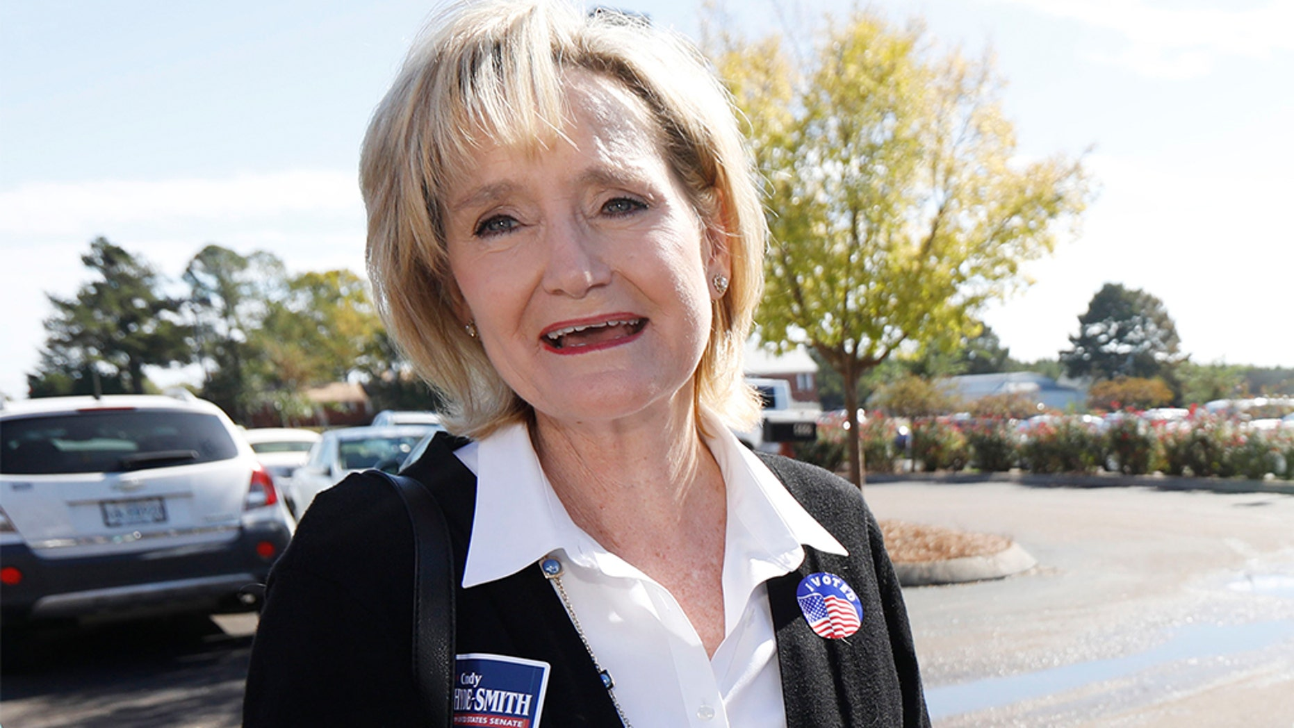 "Sen. Cindy Hyde-Smith reportedly insisted Sunday that she was complimenting someone when she said, ""If he invited me to a public hanging, I'd be on the front row,"" a comment that was captured in a video recording."