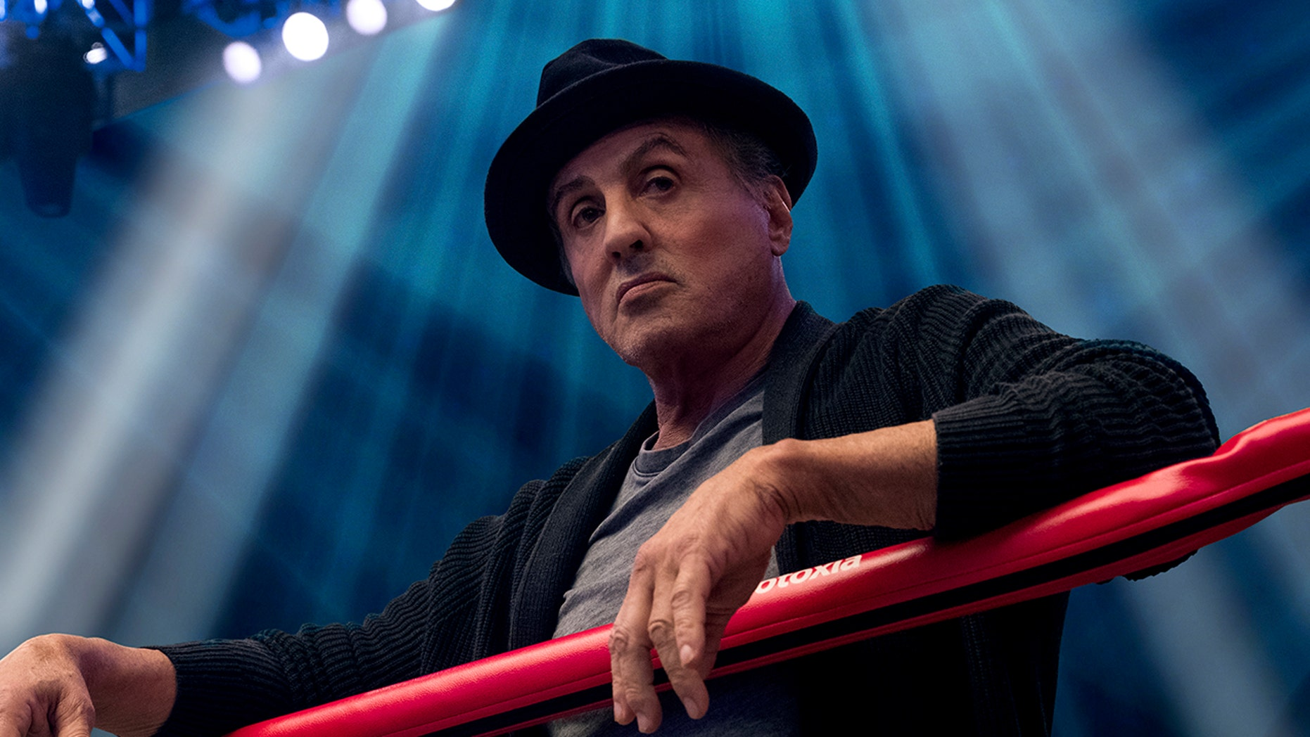 "This image released by Metro Goldwyn Mayer Pictures / Warner Bros. Pictures shows Sylvester Stallone in a scene from ""Creed II."""