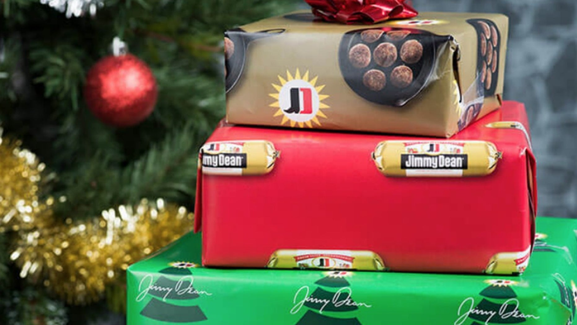 jimmy dean sells out of sausage scented holiday wrapping paper fox