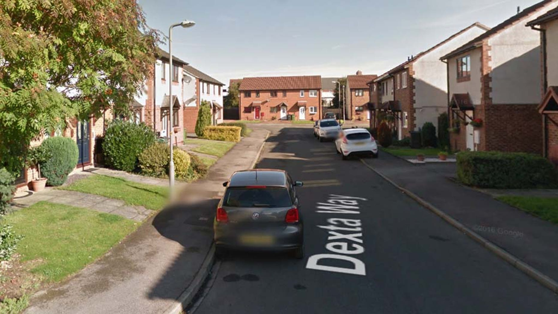 The remains of the infant were found under the stars in Dexta Way, Northallerton, U.K. (pictured)