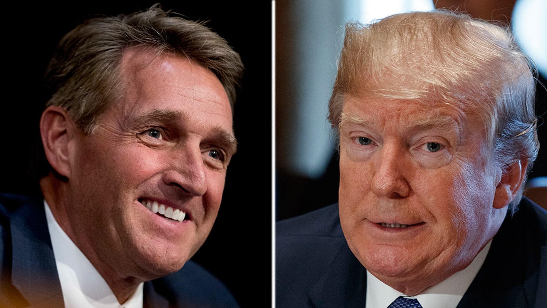 Former Sen. Jeff Flake will not make a White House run against President Trump.