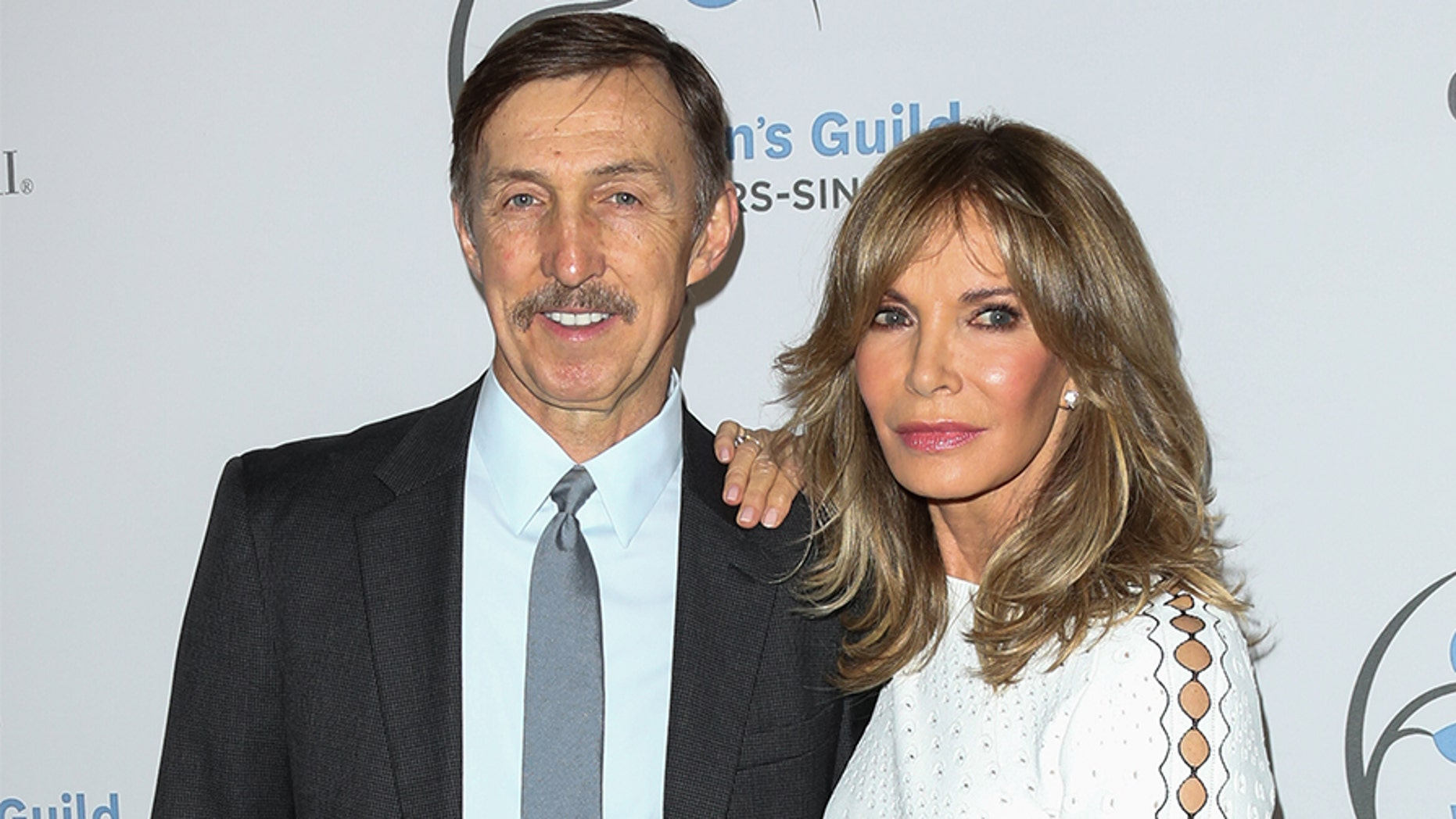 Actress Jaclyn Smith (R) and her husband Brad Allen.